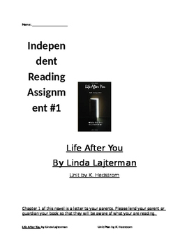 Life After You by Linda Lajterman Independent Reading Project