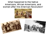 Life After the American Revolution for Women, Slaves, and