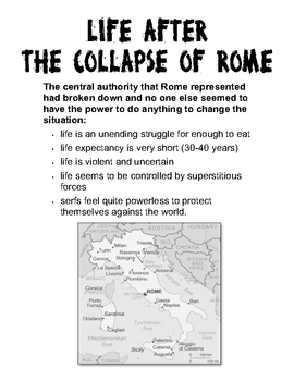 Life After the Collapse of Rome - Handout