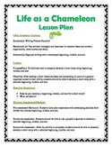 Life As A Chameleon- Tiered Writing Lesson- Beginning, Middle, & End!