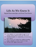 Life As We Knew It Digital Classroom Quiz and Novel Test P
