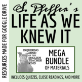 Life As We Knew It Mega Bundle - Quizzes, Research Project, Test, and Keys