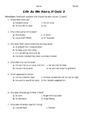 Life As We Knew It Summer Quiz (Chapters 6-10)