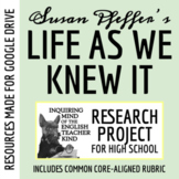 Life As We Knew It by Susan Beth Pfeffer - Research Project, Presentation