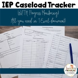 Special Education Progress Monitoring and Caseload Tracker in Excel
