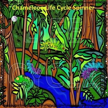 "Chameleon ""Life Cycle"" (Peekaboo Spinner Wheel)"