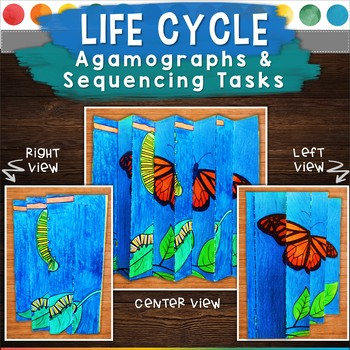 Life Cycle Agamographs & Sequencing Activities (5 Agamographs Included)!