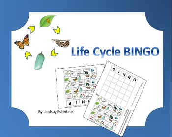 Life Cycle BINGO: Frog and Butterfly
