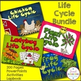 LIFE CYCLE BUNDLE - 4 Complete Units (Plants, Chickens, Ladybugs, and Frogs)