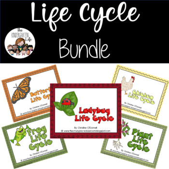 Life Cycle Bundle: frog, plant, butterfly, ladybug and chicken save 50%