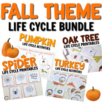 Fall Life Cycle Bundle for Montessori Activities or Science Centers