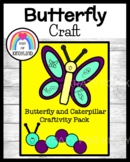 Butterfly and Caterpillar Life Cycle Craft Pack (Spring Weather)