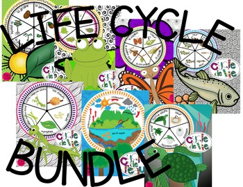 Life Cycle Spinners Bundle ~ French