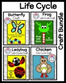 Life Cycle Craft Bundle: Frog, Chicken, Butterfly, Caterpillar, Ladybug (Spring)
