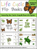Life Cycle Flip Books: Sea Turtles, Butterfly, Frog, and P