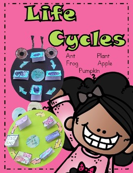 Animals Life Cycle Project Frog, Ant, Pumpkin, Apple, Plant Grades 1 and 2