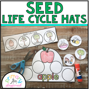Life Cycle Hats- From Seeds Cut and Glue