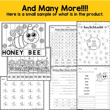 Life Cycle of a Honey Bee includes Full Color Book, Mini Book, sequencing, more!
