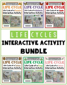 Life Cycle Interactive Crafts Bundle - Science Crafts Series