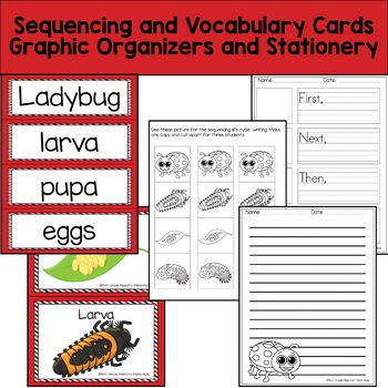 Life Cycle Ladybug includes Colored Book, Sequencing, and More