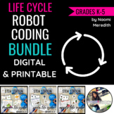 Life Cycle Lesson Plans | Bundle | Robot Coding & Unplugged