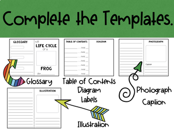 Life Cycle - Make a Non-Fiction Text Booklet.