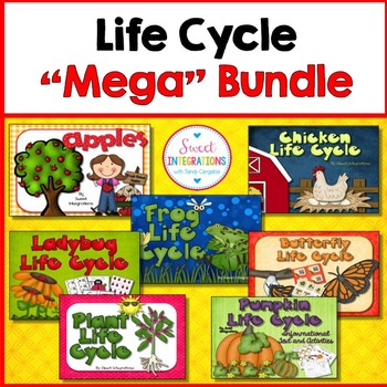 LIFE CYCLES: Plants, Frogs, Butterflies, Ladybugs, Pumpkins, Chickens, Apples