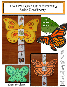 Life Cycle Of A Butterfly Craftivity