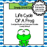 Life Cycle Of A Frog Emergent Reader Book AND Interactive Activities