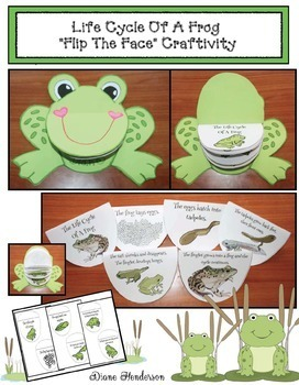 "Life Cycle Of A Frog: ""Flip The Face"" Craftivity"