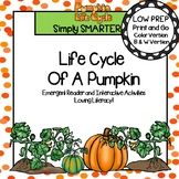 Life Cycle Of A Pumpkin Emergent Reader Book AND Interacti
