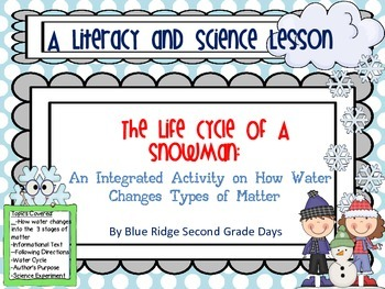 Life Cycle Of A Snowman: Literacy and Science OnHowWater C