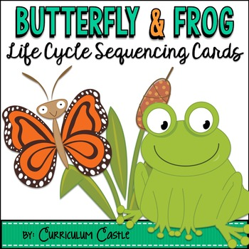 Life Cycle Sequencing Cards - Butterfly and Frog {FREE}!