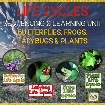 Life Cycles Teaching Unit for Butterflies, Plants, Frogs & Ladybugs