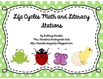 Life Cycle Themed Math and Literacy Station Activities