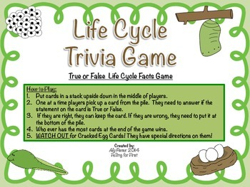 Life Cycle Trivia Game