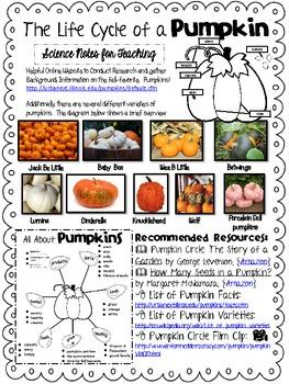Life Cycle Unit: Pumpkin Palooza!!
