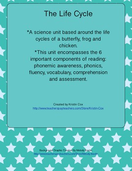 Life Cycle Unit - Science and Language Arts/Reading