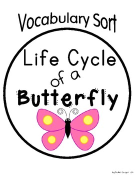 Life Cycle Vocabulary Sort