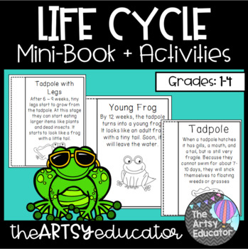 Life Cycle of A Frog Mini Book and Graphic Organizer!