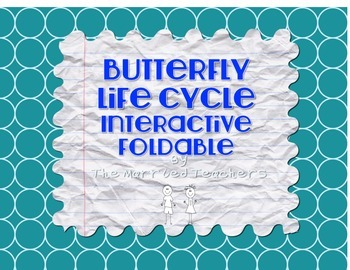 Life Cycle of Butterfly Science Interactive 4-Square Foldable