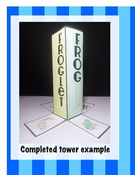 Life Cycle of Frog Science Interactive Tower Foldable