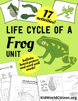 Life Cycle of Frogs: ELA, Math, and Science Activities, Crafts, and Posters