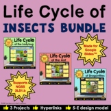 Life Cycle of Insects Interactive Digital Notebooks for Google Slides Bundle