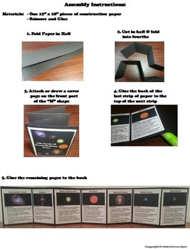The Life Cycle of Stars Interactive Notebook Foldable (Fun Hands on Activity)