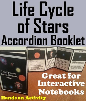 The Life Cycle of Stars Interactive Notebook Foldable (Fun