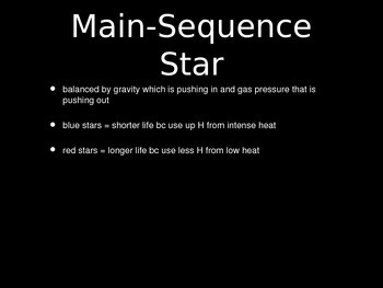 Earth Science: Life Cycle of Stars Activity PowerPoint