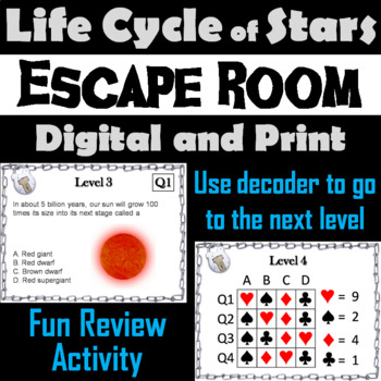 Life Cycle of Stars Activity: Escape Room - Science