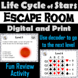 Life Cycle of Stars Activity: Space Science Escape Room Astronomy