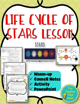 Life Cycle of Stars Lesson (Notes, PowerPoint, and Activity)